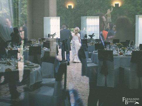 banquete de bodas en jardín