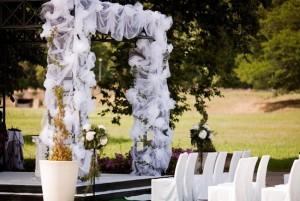 Ceremonia personalizada en los jardines