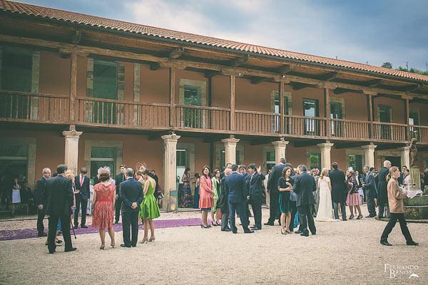 recepción de invitados