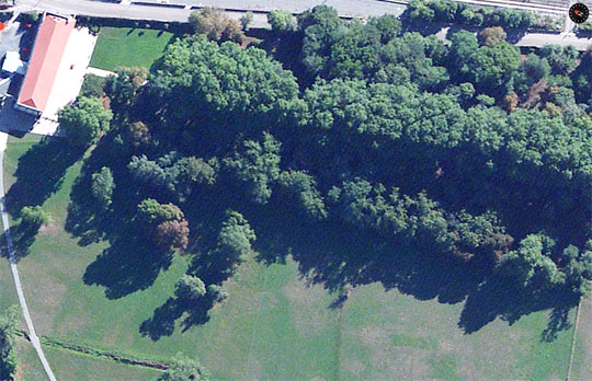 Vista aérea de La Casona de las Fraguas