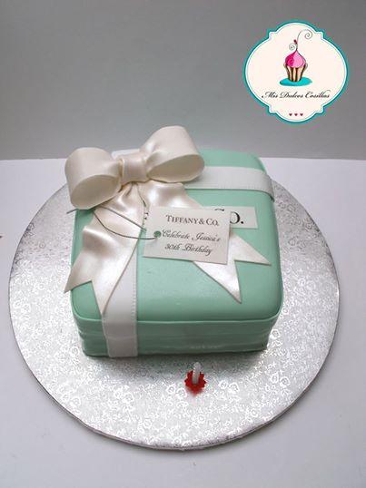 tarta regalo tiffani, mis dulces cosillas