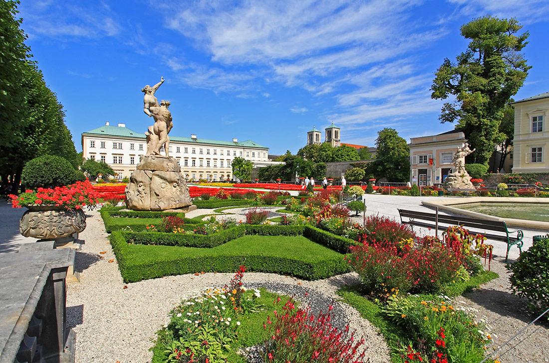palacio para bodas, jardines palacio Mirabell