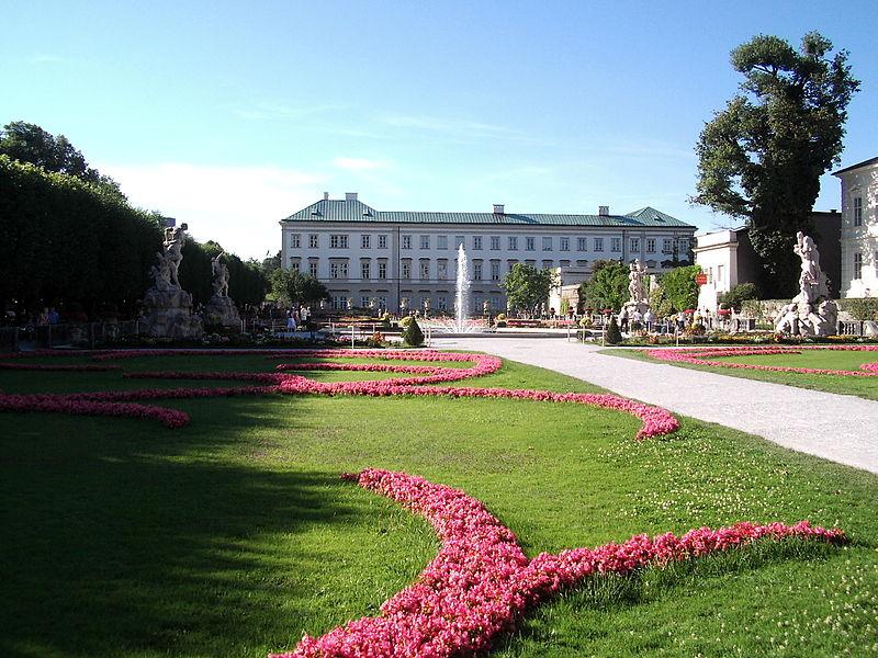 palacio para bodas, palacio de Mirabell en Austria