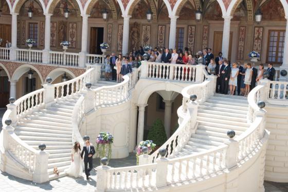 mejores palacios para bodas. Palacio de Mónaco. Boda de Rainiero y Grace Kelly..