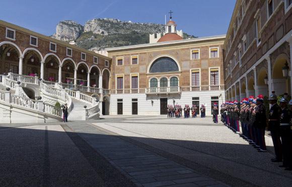celebraciones de bodas en palacios. Palacio de Monaco. Boda de Rainiero y Grace Kelly