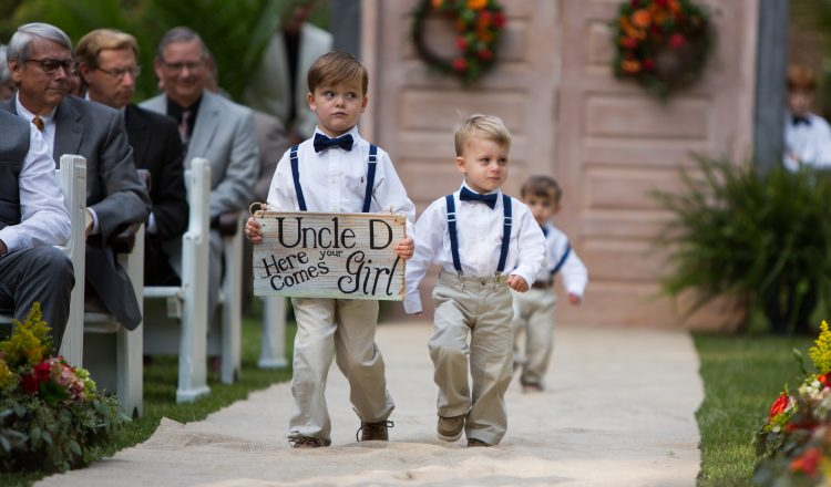 Celebrar una boda con niños